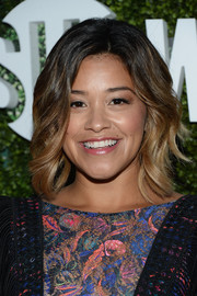 Gina Rodriguez sported beach-chic ombre waves at the CBS Summer TCA Party.