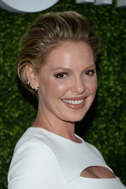 Katherine Heigl attended the CBS Summer TCA Party wearing her hair in a textured, brushed-back bob.