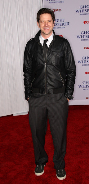 Jamie Kennedy made a bold statement when he opted for pinstripe pants at the CBS celebration of the 100th episode of 'Ghost Whisperer.'