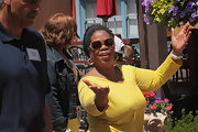Oprah Winfrey shielded her eyes with a pair of chic butterfly sunnies during the Allen & Company Sun Valley Conference.
