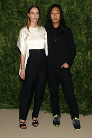 Vanessa Traina Snow teamed her stylish top with a pair of high-waisted black pants, also by Alexander Wang.