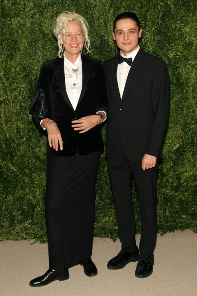 Ellen Von Unwerth opted for a black velvet blazer and a long skirt for the Fashion Fund finalists celebration.