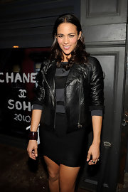 Paula Patton showed off her medium curls while hitting the Chanel dinner in Soho.