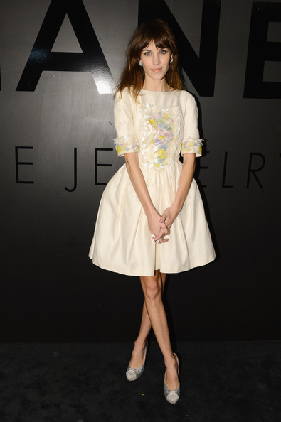 Alexa+Chung in CHANEL FINE JEWELRY Celebrates Its 80th Anniversary Of The
