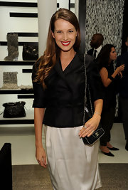 Petra added a little spunk to her look with a cool chain strap quilted bag from the Fall 2010 collection.