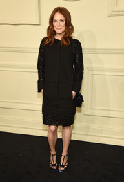 Julianne Moore kept it classy at the Chanel Paris-Salzburg show in an LBD with a subtly sparkly hem and sleeves.