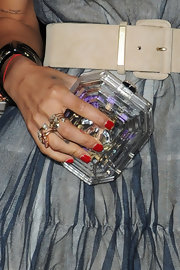 Zoe Kravitz showed off the latest spring craze while at a Chanel event, clear accessories.