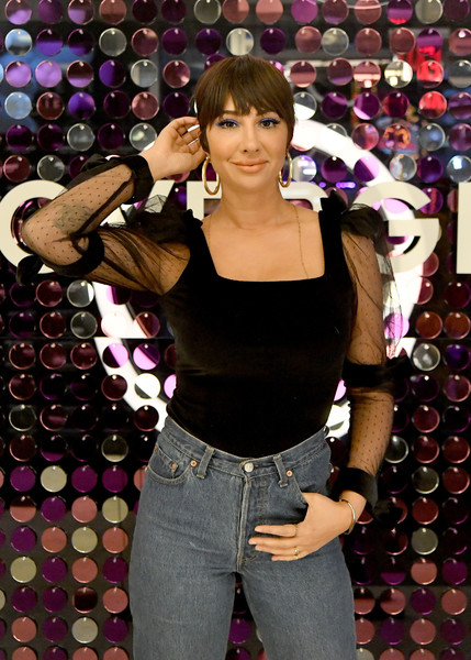 More Pics of Jackie Cruz Classic Jeans (4 of 12) - Jeans Lookbook - StyleBistro [jeans,long hair,smile,covergirl opens the doors to their first flagship store,experiential makeup playground in the heart of new york city,new york city,jackie cruz]