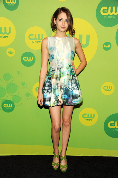 Willa Holland's patterned dress featured a cool floral and water design for a soft naturey look.