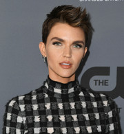Ruby Rose looked oh-so-cool with her sculpted fauxhawk at the CW Summer TCA All-Star Party.