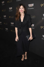 Kathryn Hahn attended the Cadillac Oscar week celebration wearing a ruched and draped blazer.