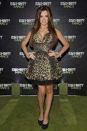 Maria Fowler looked like Tinkerbell in animal print at the Call of Duty: Modern Warfare 3 launch.