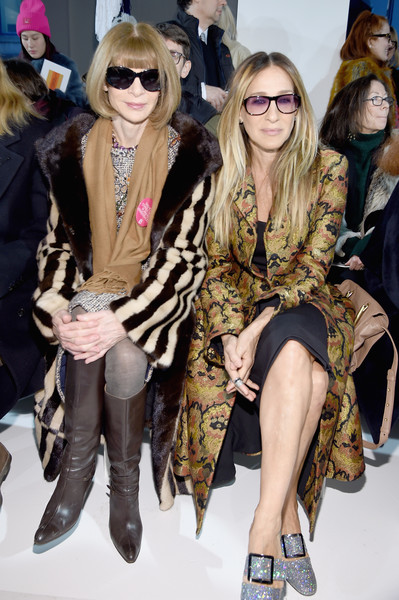 Anna Wintour and Sarah Jessica Parker at Calvin Klein Collection