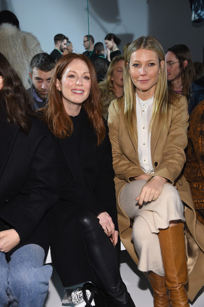 Julianne Moore and Gwyneth Paltrow at Calvin Klein Collection