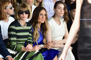 Artistic director for Conde Nast Anna Wintour and actresses Sarah Jessica Parker and Rooney Mara attend the Calvin Klein Collection fashion show during Mercedes-Benz Fashion Week Spring 2015 at Spring Studios on September 11, 2014 in New York City.