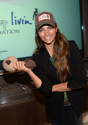 Camila Alves looked sporty wearing this trucker hat at the Just Keep Livin' breast cancer awareness event.