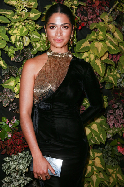 Camila Alves Box Clutch [clothing,dress,beauty,fashion,shoulder,cocktail dress,neck,haute couture,satin,model,camila alves,issue,los angeles,sofitel los angeles,california,beverly hills,bella,launch party]