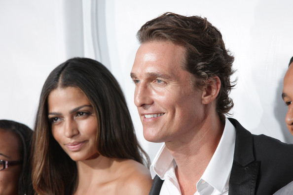 Model Camila Alves (L) and actor Matthew McConaughey attend Samsung's 9th ...