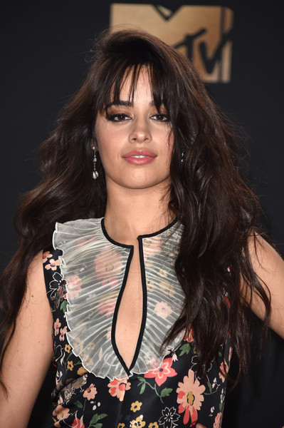 Camila Cabello Long Wavy Cut with Bangs