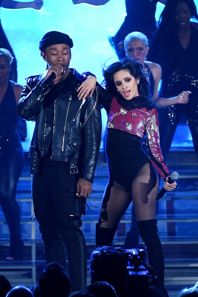 Camila Cabello Bodysuit [performance,entertainment,performing arts,stage,music artist,event,performance art,public event,concert,pop music,artists,ty dolla sign,camila cabello,billboard music awards,fifth harmony,las vegas,nevada,t-mobile arena,l,show]
