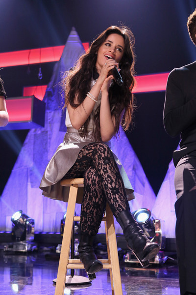 Camila Cabello Tights [performance,entertainment,performing arts,music artist,event,stage,singing,public event,singer,music,fifth harmony performs on the honda stage at the iheartradio theater,los angeles,honda stage,burbank,california,iheartradio theater,camila cabello]
