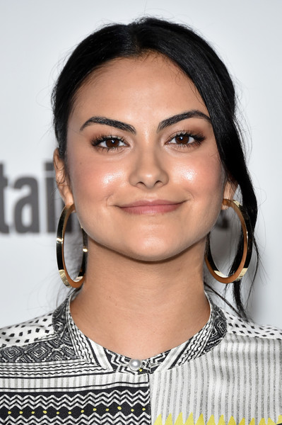 Camila Mendes Gold Hoops [entertainment weekly hosts its annual comic-con party at float at the hard rock hotel,san diego in celebration of comic-con 2018 - arrivals,hair,face,eyebrow,hairstyle,lip,chin,cheek,beauty,skin,black hair,camila mendes,float,san diego,california,hard rock hotel,entertainment weekly,hbo,comic-con bash]