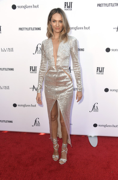 Candice Swanepoel Strappy Sandals [clothing,fashion model,red carpet,dress,carpet,cocktail dress,hairstyle,fashion,shoulder,joint,arrivals,candice swanepoel,beverly hills hotel,california,daily front row,5th annual fashion los angeles awards]