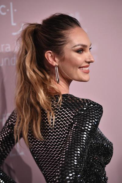 Candice Swanepoel Ponytail [hair,hairstyle,fashion,beauty,fashion model,eyebrow,long hair,shoulder,blond,lip,rihanna,candice swanepoel,new york city,cipriani wall street,the clara lionel foundation,diamond ball benefitting the clara lionel foundation - arrivals]