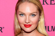 Candice Swanepoel Red Lipstick