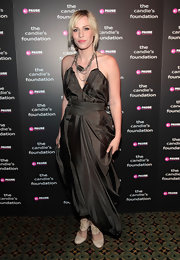 Natasha Bedingfield attended the Candie's Foundation Event to Prevent wearing a pair of ivory leather lace-up heels.