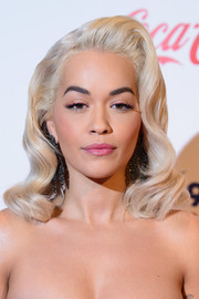 Rita Ora chose a sweet pink hue for her lips.