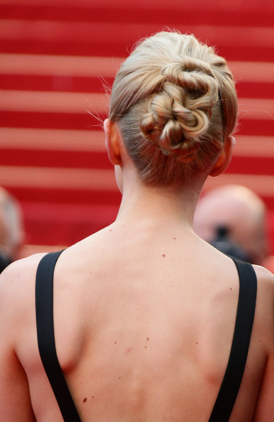 Carey Mulligan Twisted Bun