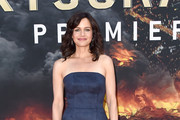 Carla Gugino Strapless Dress