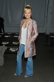 Malin Akerman channeled the '70s with these flare jeans at the Carlisle fashion show.