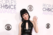 Carly Rae Jepsen Leather Dress