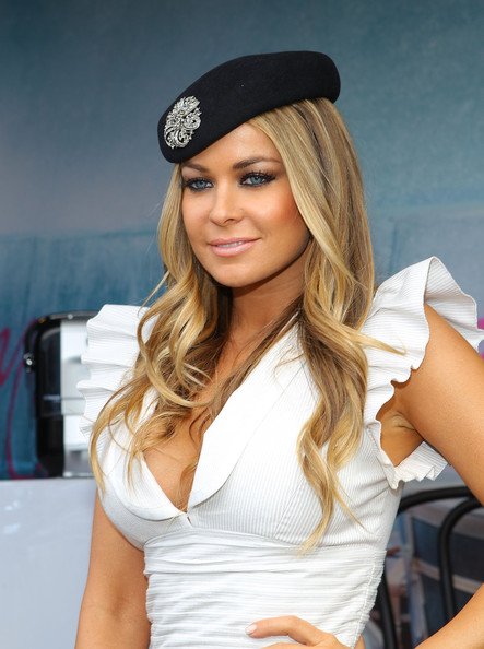 Carmen Electra attends the Lavazza marquee during Crown Oaks Day at ...
