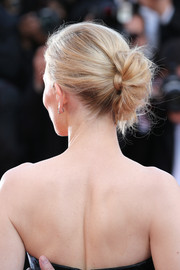 Cate Blanchett went for edgy elegance with this twisted bun at the premiere of 'Carol' in Cannes.