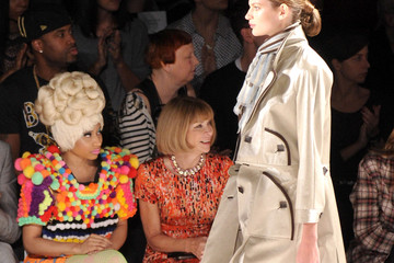 Anna Wintour Nicki Minaj Carolina Herrera - Front Row - Spring 2012 Mercedes-Benz Fashion Week