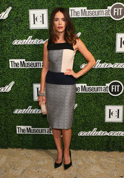 Abigail Spencer looked mod in her tricolor sheath dress during the Couture Council Award luncheon.