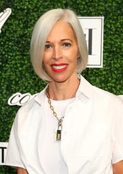 Linda Fargo stuck to her signature silver bob when she attended the Couture Council Award luncheon.