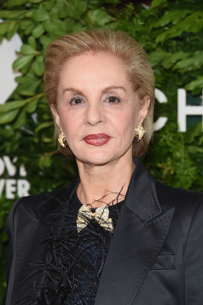 Carolina Herrera Bob [hair,hairstyle,eyebrow,blond,lip,lady,suit,long hair,fashion accessory,smile,god,carolina herrera,golden heart awards,love,new york city]