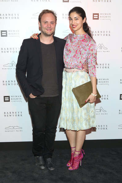 Caroline Issa Print Blouse [clothing,fashion,fashion design,event,dress,footwear,cocktail dress,premiere,style,performance,barneys new york,cocktail party benefiting americans for marriage equality,l-r,program,new york city,cocktail party benefiting americans for marriage equality program,caroline issa,nicholas kirkwood]