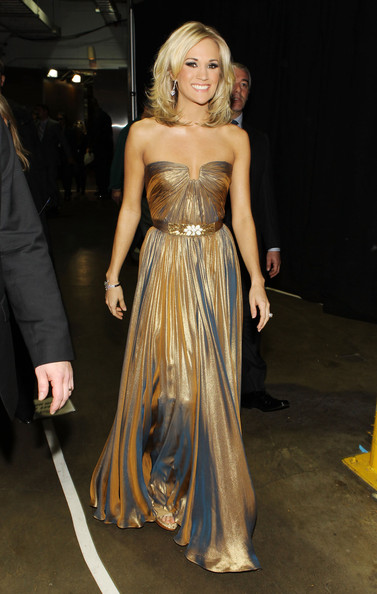 Singer Carrie Underwood backstage during the 52nd Annual GRAMMY Awards held