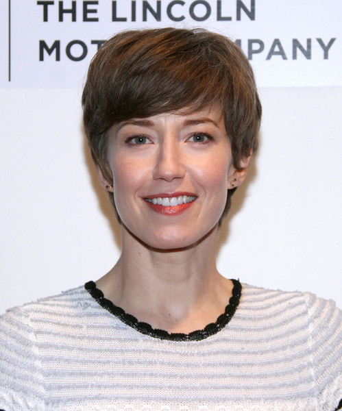 Carrie Coon Emo Bangs [the lovers premiere,the lovers,hair,face,hairstyle,eyebrow,chin,skin,forehead,lip,head,blond,carrie coon,new york city,bmcc tribeca pac,premiere,tribeca film festival]