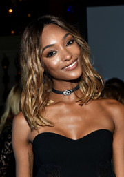 Jourdan Dunn wore piecey, center-parted waves at the Cartier Fifth Avenue grand reopening.