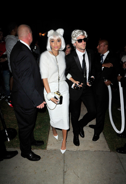 Ashley Madekwe as Choupette (with Iddo Goldberg as Karl Lagerfeld)