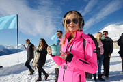 Laura Whitmore shielded her eyes with a pair of Ray-Ban aviators at the Casamigos in the Snow event.