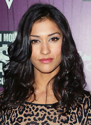 Janina Gavankar, at Cash Money Records' Lil Wayne Album Release Party for 'Tha Carter IV', looked very glamorous with her eyes emphasized by elongated lashes. To recreate the look, try Make Up For Ever Eyelash Strips applied over a thick swipe of Lancome ARTLINER  Precision Point EyeLiner.