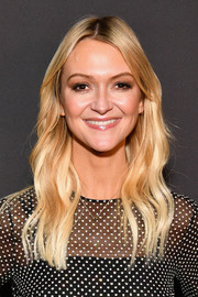 Zanna Roberts-Rassi sported a boho wavy 'do at the premiere of 'Glam Masters.'