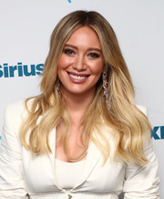 Hilary Duff looked fab with her ombre waves while visiting the SiriusXM studios.